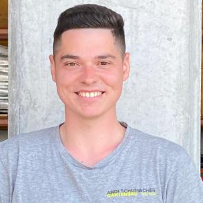 Luca Lupoli - Teamfoto Andi Schumacher Gartenbau